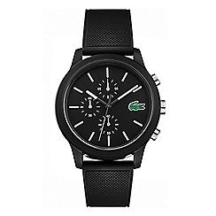 Lacoste - Men's black chronograph silicone strap watch