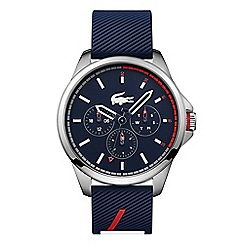 Lacoste - Men's blue analogue silicone strap watch