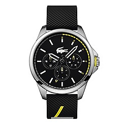 Lacoste - Men's black analogue silicone strap watch