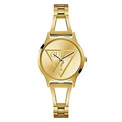 Guess - Ladies gold analogue bracelet watch W1145L3