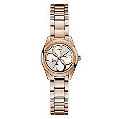 Guess - Ladies rose gold analogue bracelet watch W1147L3