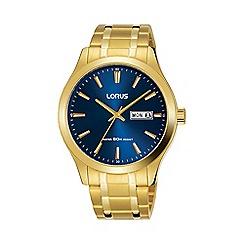 Lorus - Men's Gold Analogue Bracelet Watch RXN62DX9