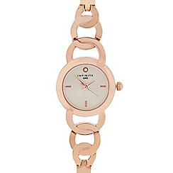 Infinite - Womens' Rose Gold Plated Linked Analogue Watch