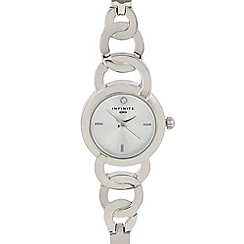 Infinite - Womens' Silver Plated Linked Analogue Watch
