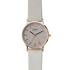 Limit - Ladies grey analogue strap watch 6365.01
