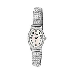 Limit - Ladies silver coloured stone set expanding bracelet watch 6029.02