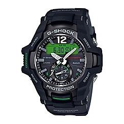 Casio - Men s black  Gravity Master  Bluetooth® chronograph strap watch  GR-B100 06d137ed14