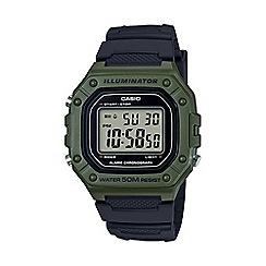 Casio - Men's black 'Heavy Duty' digital chronograph strap watch W-218H-4B2VEF