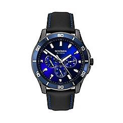 Sekonda - Men's Black Chronograph Leather Strap Watch 1634.28