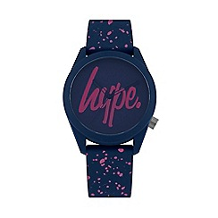 Hype - Unisex Navy and Pink Analogue Silicone Strap Watch HYL001UP