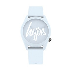 Hype - Unisex Blue Analogue Silicone Strap Watch HYL001U