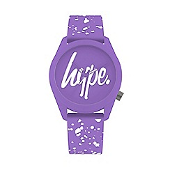 Hype - Unisex Purple and White Analogue Silicone Strap Watch HYL001VW