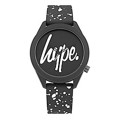 Hype - Unisex Grey and White Analogue Silicone Strap Watch HYG003BW