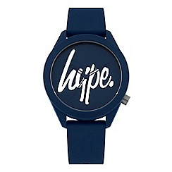 Hype - Unisex Navy Analogue Silicone Strap Watch HYG001U