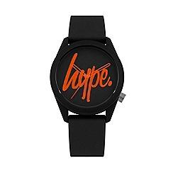 Hype - Unisex Black Analogue Silicone Strap Watch HYU001BO