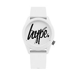 Hype - Unisex White Analogue Silicone Strap Watch HYU001W