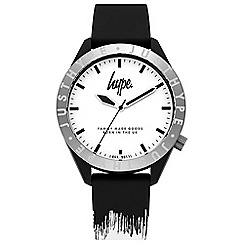Hype - Unisex Black and White Analogue Silicone Strap Watch HYG006BW