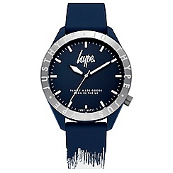 Hype - Unisex Navy and White Analogue Silicone Strap Watch HYG006UW