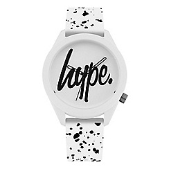Hype - Unisex White and Black Analogue Silicone Strap Watch HYG003W