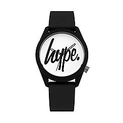 Hype - Unisex Black Analogue Silicone Strap Watch HYU001B