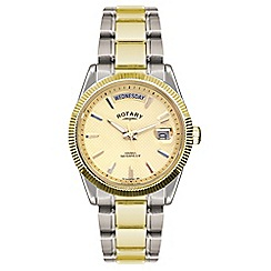 Rotary - Men's gold and silver analogue bracelet watch GB02661/20