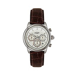 Rotary - Men's brown chronograph leather strap watch GS02876/06