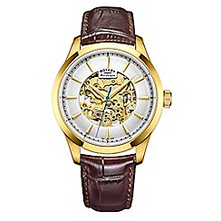 Rotary - Men's brown analogue leather strap watch GS05035/03