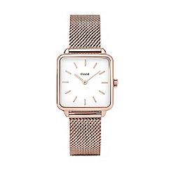 Cluse - Ladies rose gold 'La Gar×onne' analogue bracelet watch