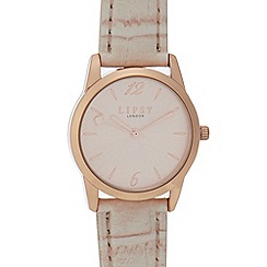 Lipsy - Womens' Rose Gold Plated Croc-Effect Analogue Watch