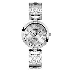 Guess - Ladies Silver Analogue Bracelet Watch W1228L1
