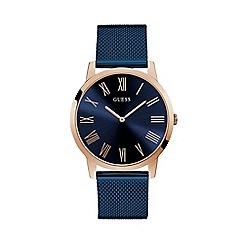 Guess - Men's Blue Analogue Mesh Bracelet Watch W1263G4