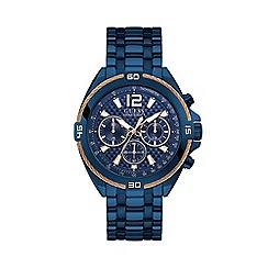 Guess - Men's Blue Chronograph Bracelet Watch W1258G3