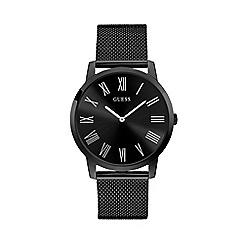Guess - Men's Black Analogue Mesh Bracelet Watch W1263G3