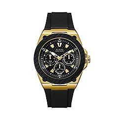 Guess - Men's Black Silicone Strap Watch W1049G5