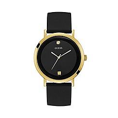 Guess - Men's Black Analogue Silicone Strap Watch W1264G1