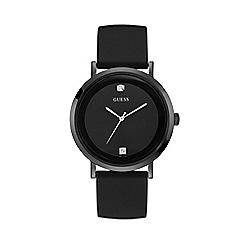 Guess - Men's Black Analogue Silicone Strap Watch W1264G2