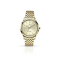 Accurist - Men's gold 'Champagne' quartz bracelet watch