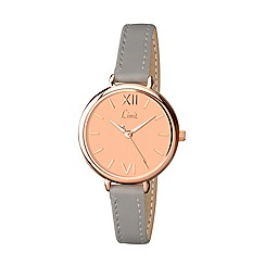 Limit - Ladies rose gold plated strap watch 6071.01