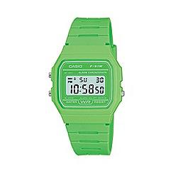 Casio - Unisex green octagonal digital watch f-91wc-3aef