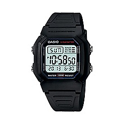 Casio - Unisex black large digital watch w-800h-1aves