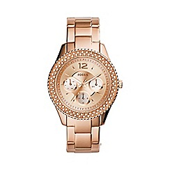 Fossil - Ladies new Stella watch in rose gold-tone es3590