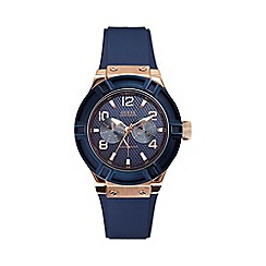 Guess - Ladies blue silicone strap watch w0571l1