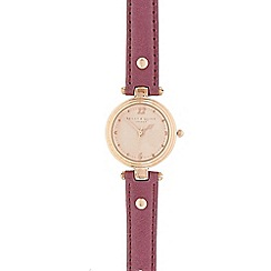 Bailey & Quinn - Ladies purple leather analogue watch