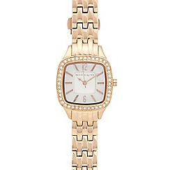 Bailey & Quinn - Ladies gold plated crystal bezel watch