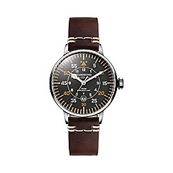 Hammond & Co. by Patrick Grant - Men's 'Aviation' watch with brown leather strap