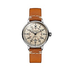 Hammond & Co. by Patrick Grant - Men's 'Aviation' watch with tan leather strap