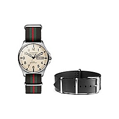Hammond & Co. by Patrick Grant - Men's watch with black leather and nato straps