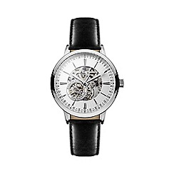 Hammond & Co. by Patrick Grant - Mens' mechanical watch with black leather strap