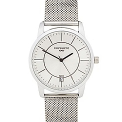 Infinite - Gents stainless steel mesh analogue watch