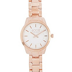 Floozie by Frost French - Ladies rose gold plated slim bracelet watch